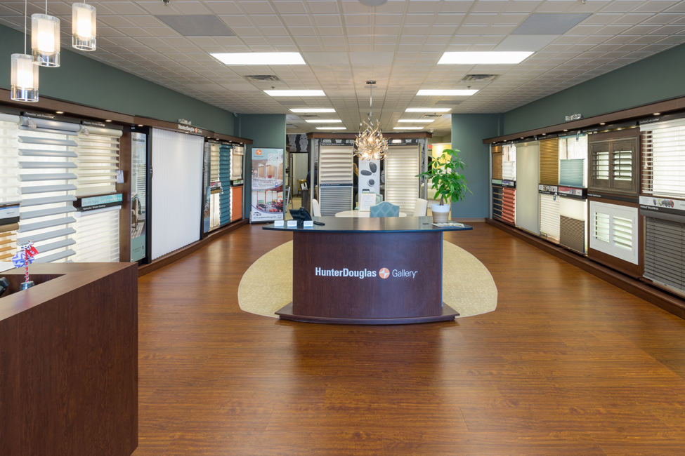 BF Interiors designed Ambiance Design's Hunter Douglas Gallery showroom