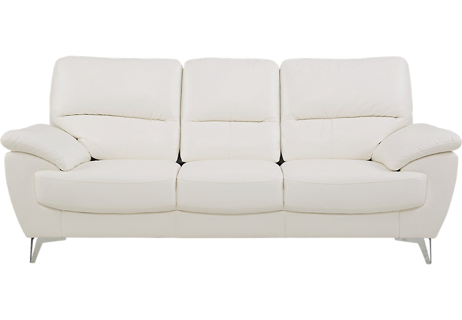 solid white sofa