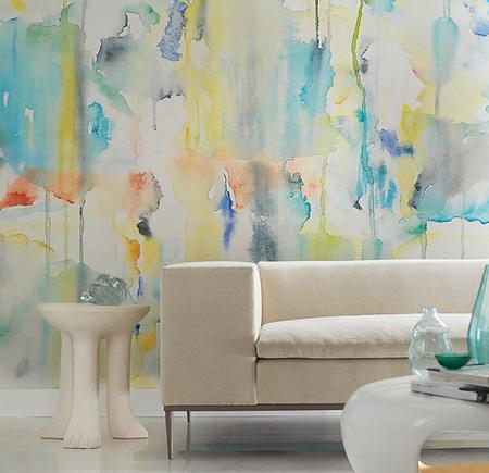Phillip Jeffries water color splash wallpaper