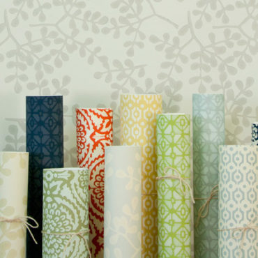 rolls of wallpaper selections