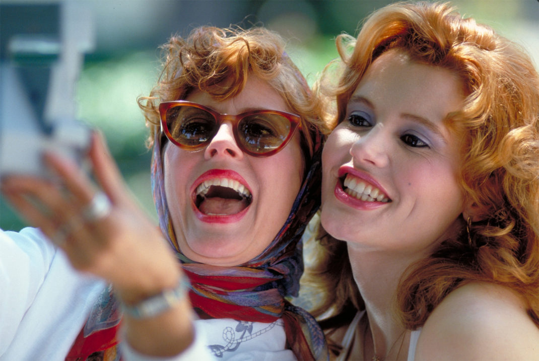 Thelma and Louise taking a picture of themselves
