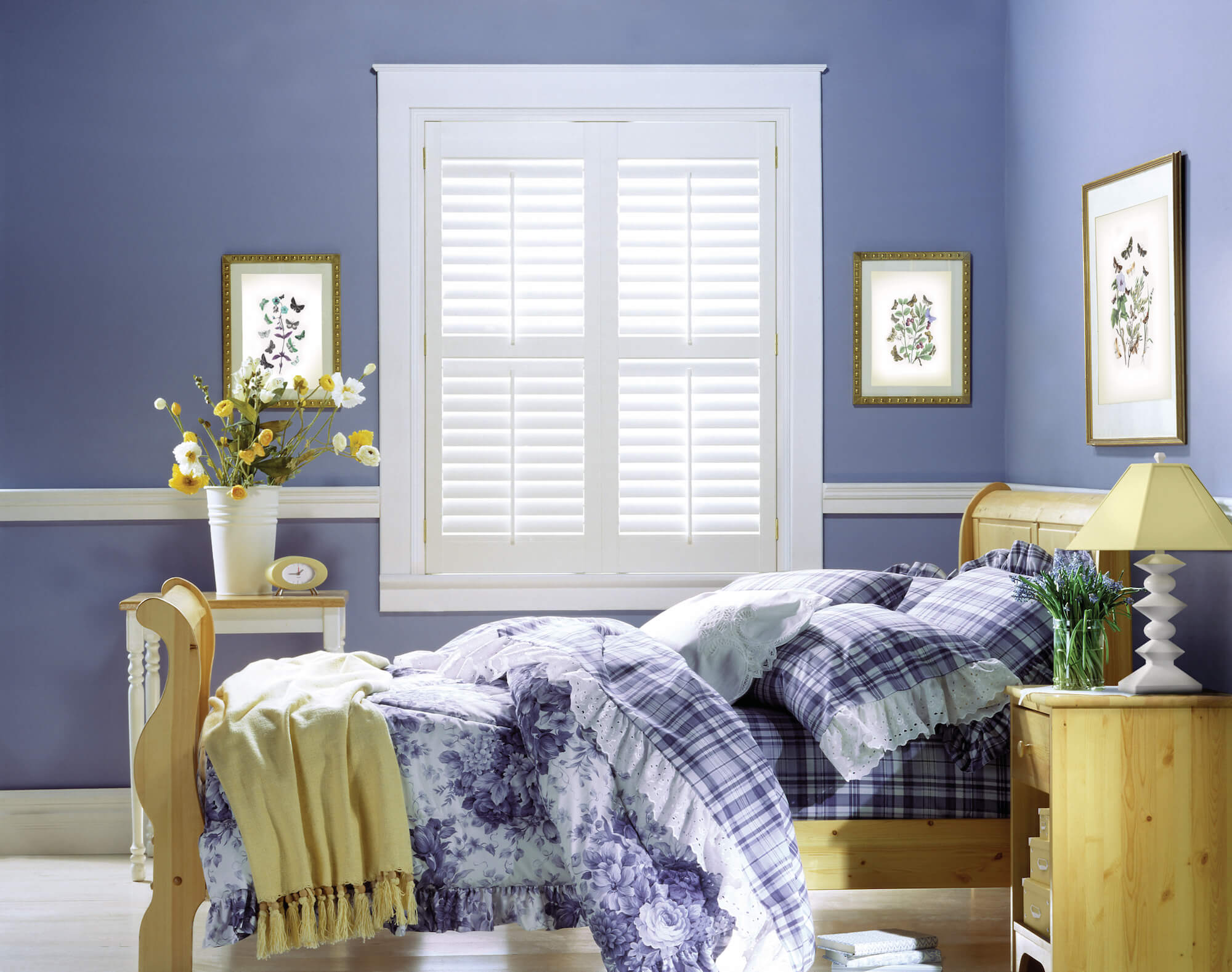 Palm Beach Shutters in bedroom window