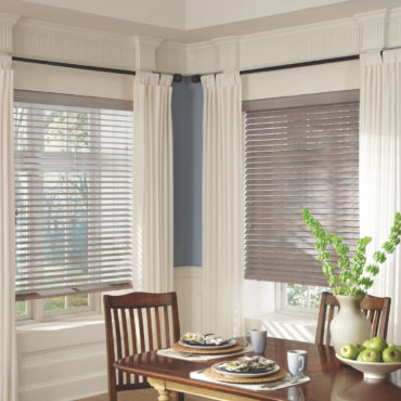Parkland Wood Blinds in dining room