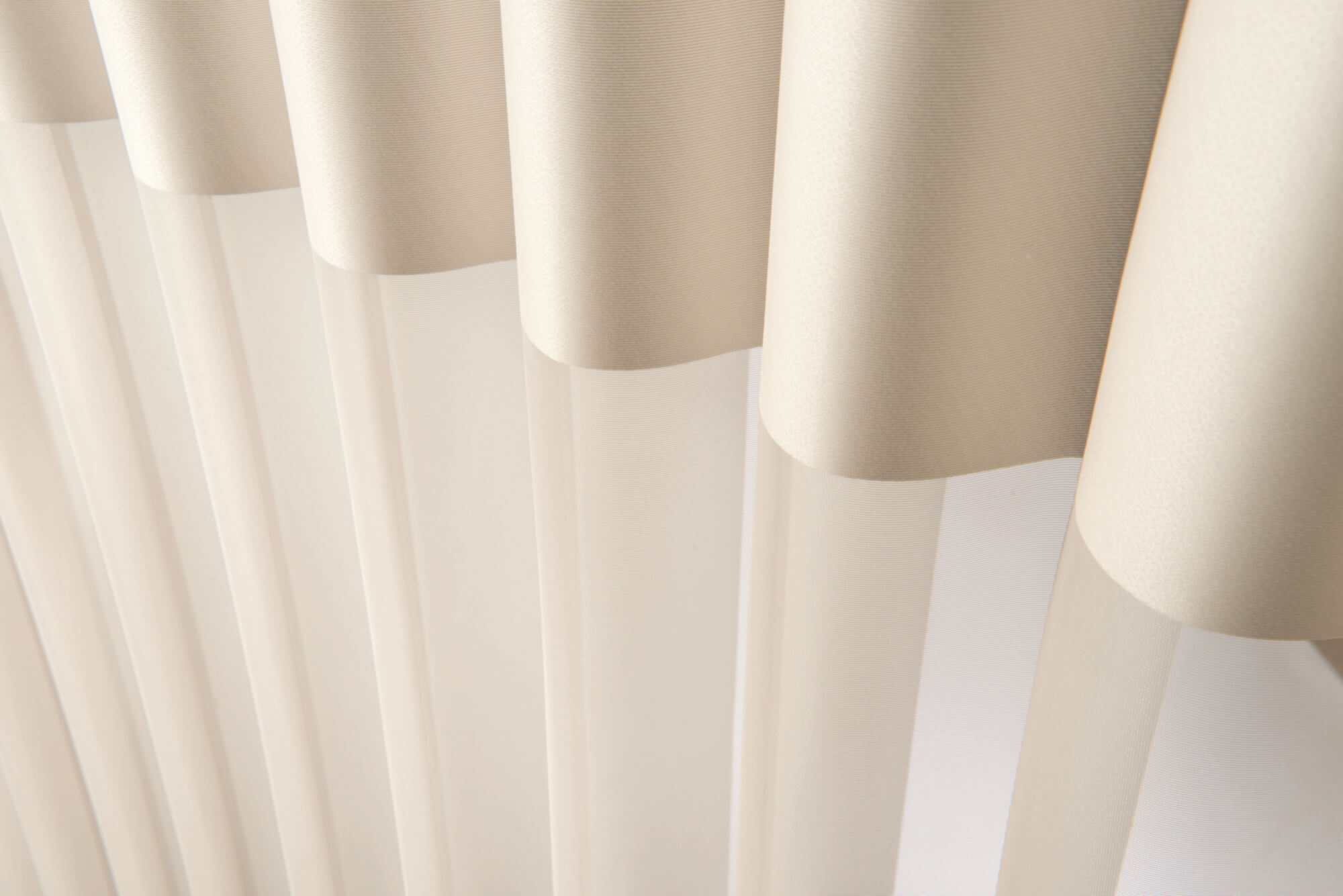 Close up of vanes of the LuminettePrivacy Sheers