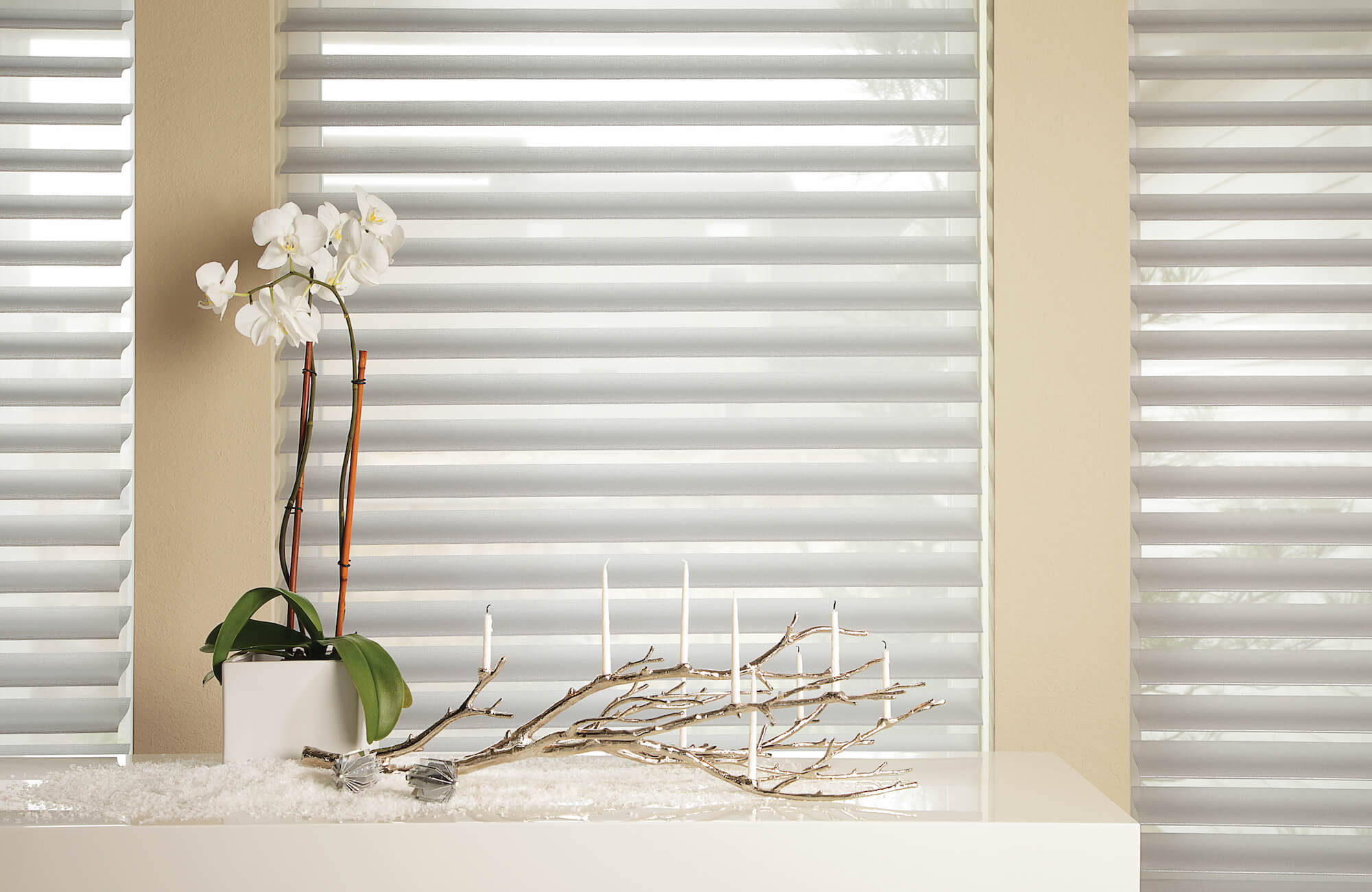 Close up of Silhouette Window Shadings with vanes open