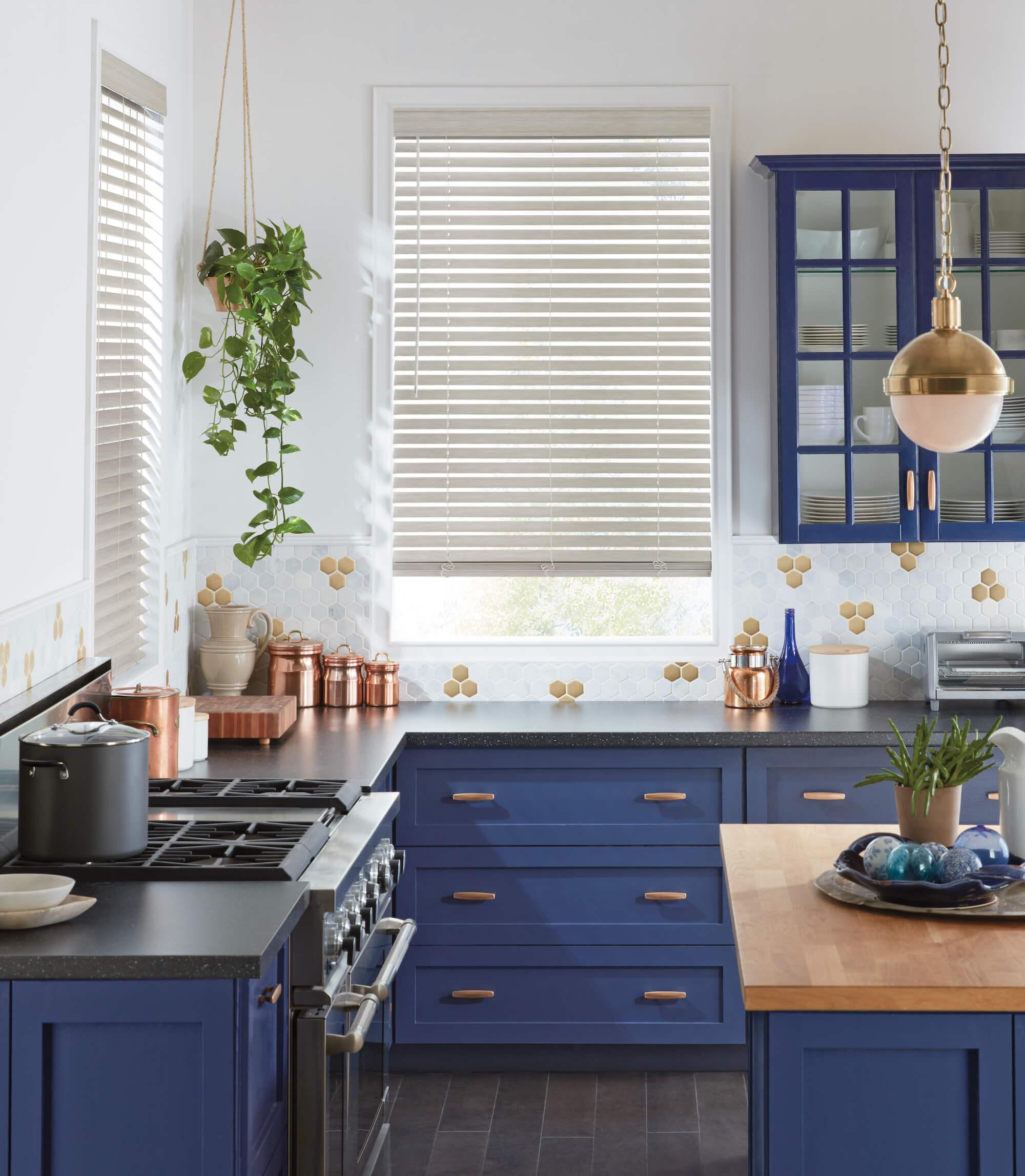 EverWood Blinds - kitchen faux wood blinds