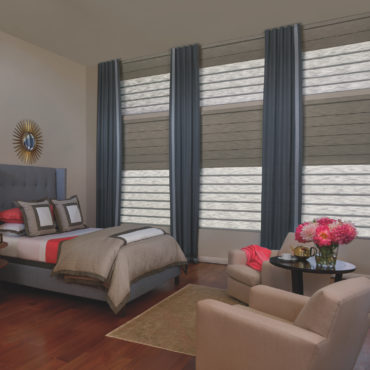 Hunter Douglas Vignette Roman Shades with duolite