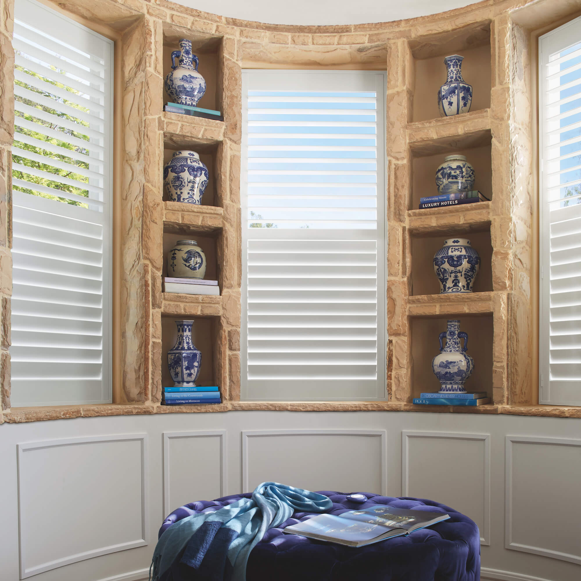Palm Beach Shutters with PowerView motorization