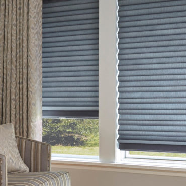 Blue Hunter Douglas Solera Soft Shades
