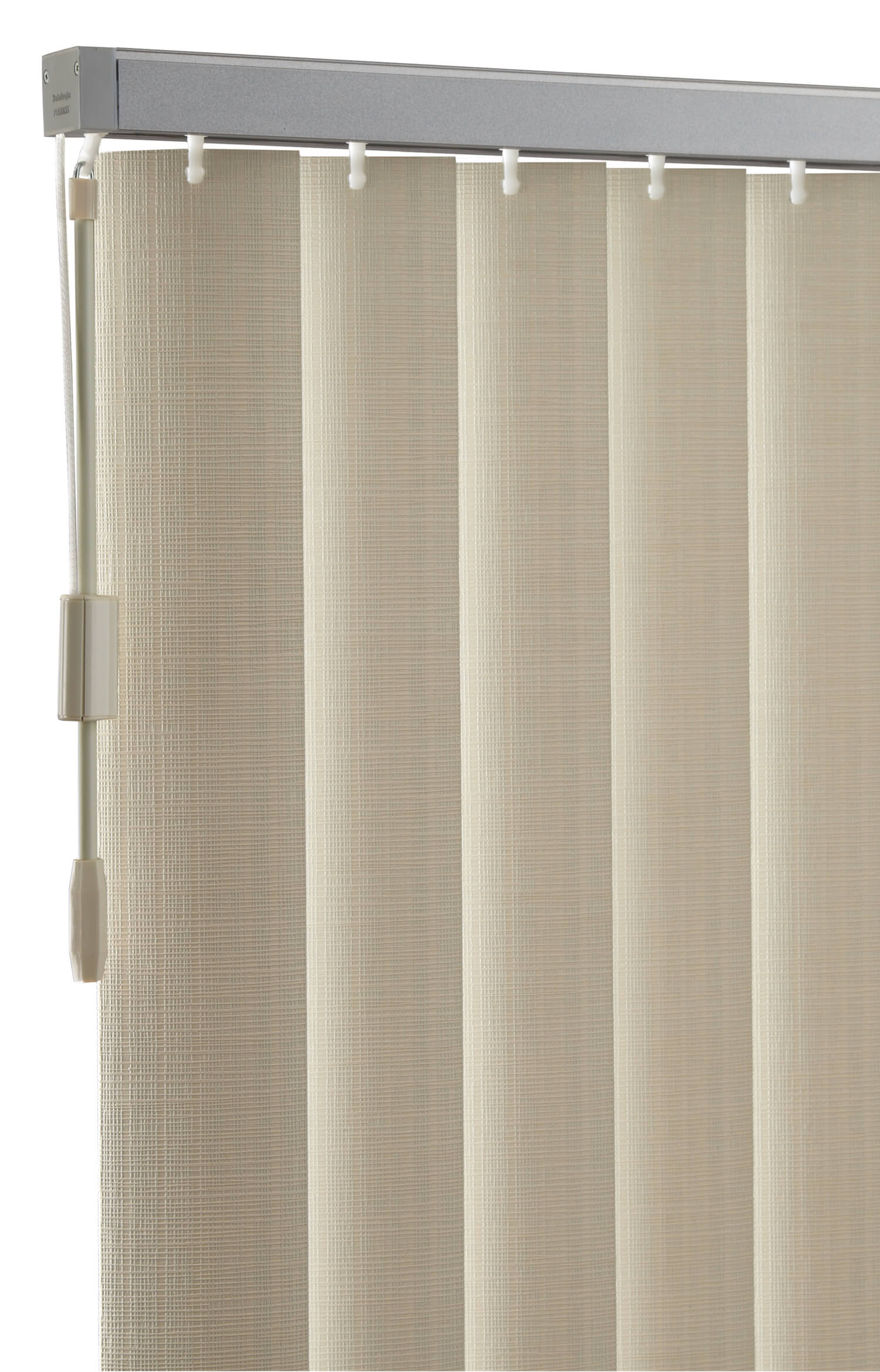 Vertical Solutions PermaTilt Hardware and close up of blinds