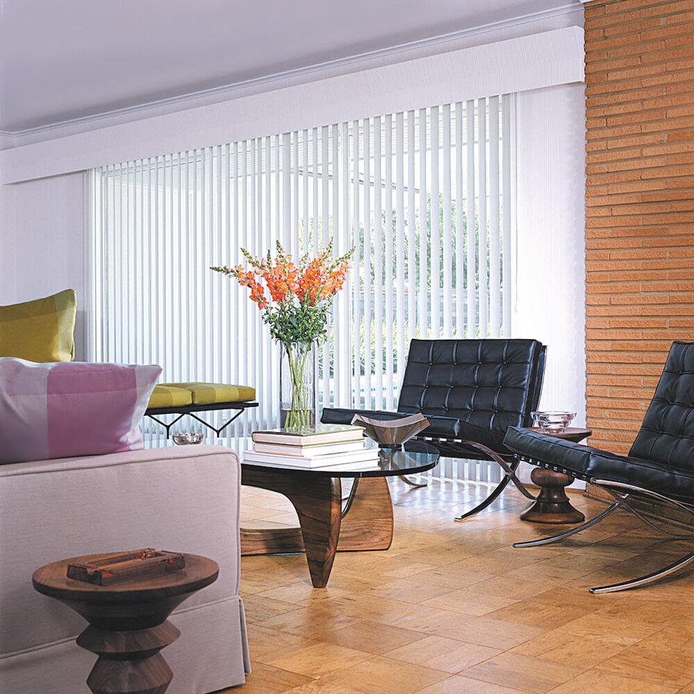 Hunter Douglas Vertical Solutions on family room sliding glass door