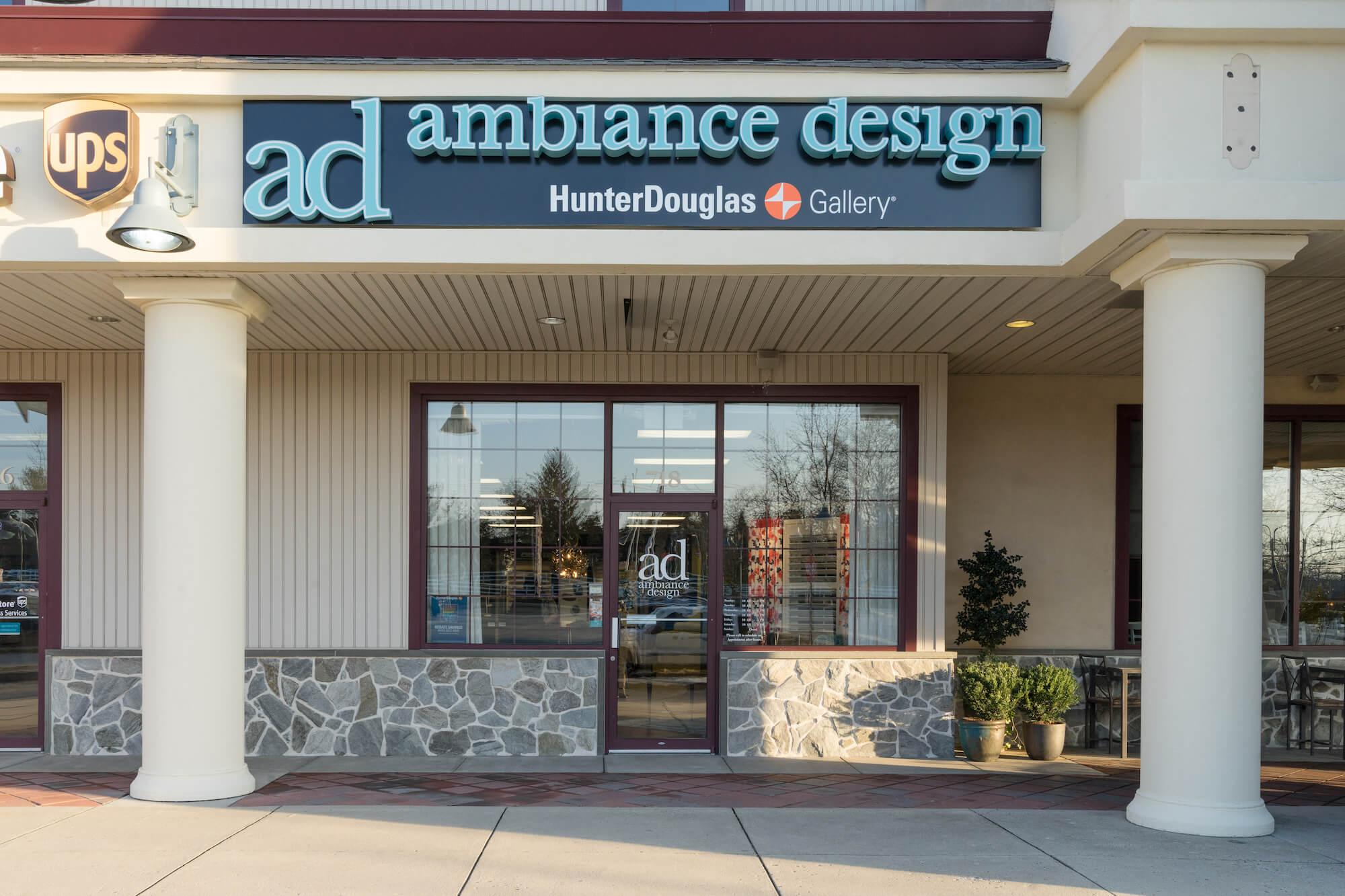 Ambiance Design Hunter Douglas Gallery Showroom building