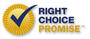 Hunter Douglas Right Choice Promise logo