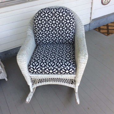 upholstered wicker chair