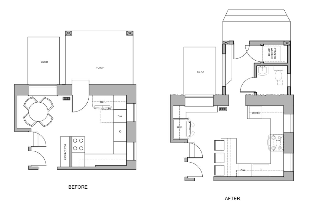 blueprint of kitchen transformation