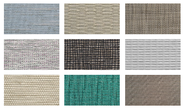 fabric swatches of Hunter Douglas Roller Shades