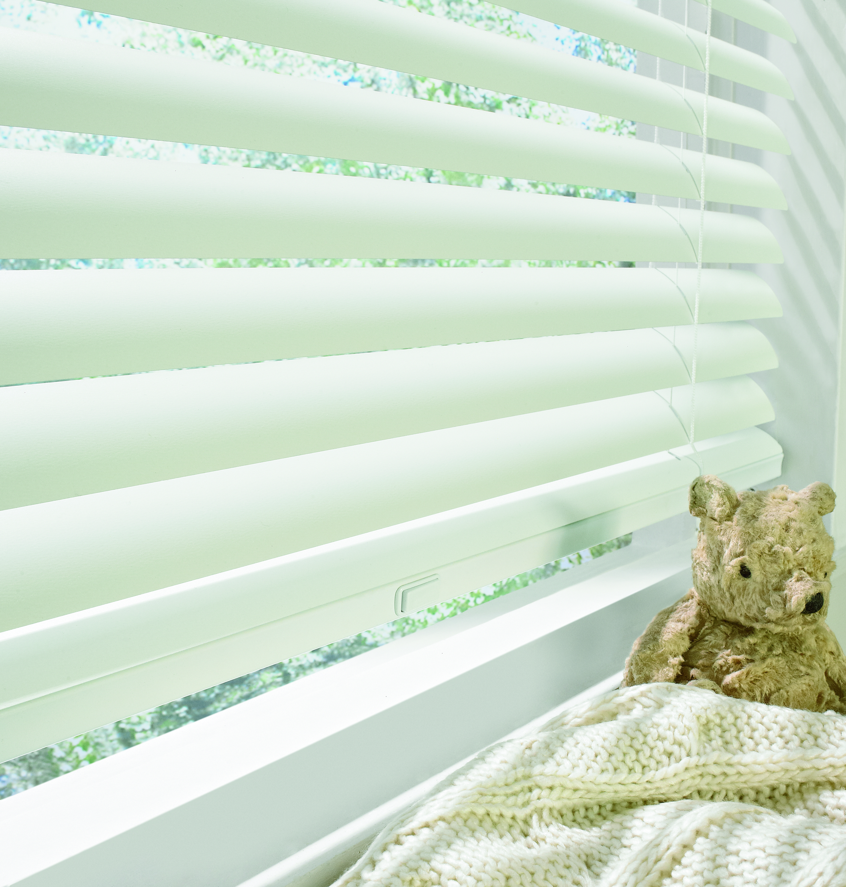 wood blinds with SimpleLift operating system