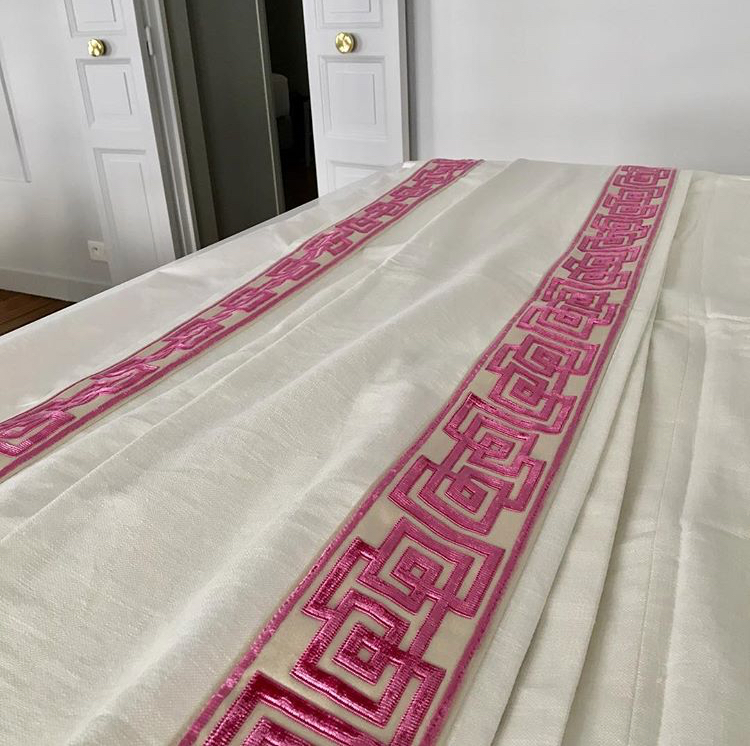 Pindler Drapery with Sandler and Sons trim
