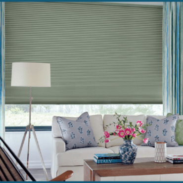 Living Room Duette Honeycomb Shade