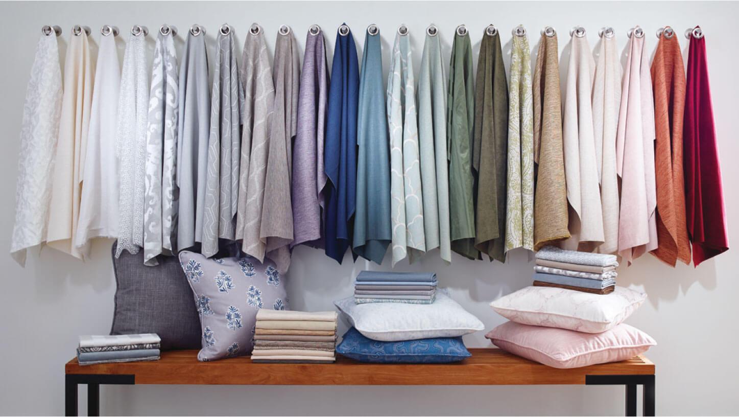 Design Studio Fabrics and decorative pillows