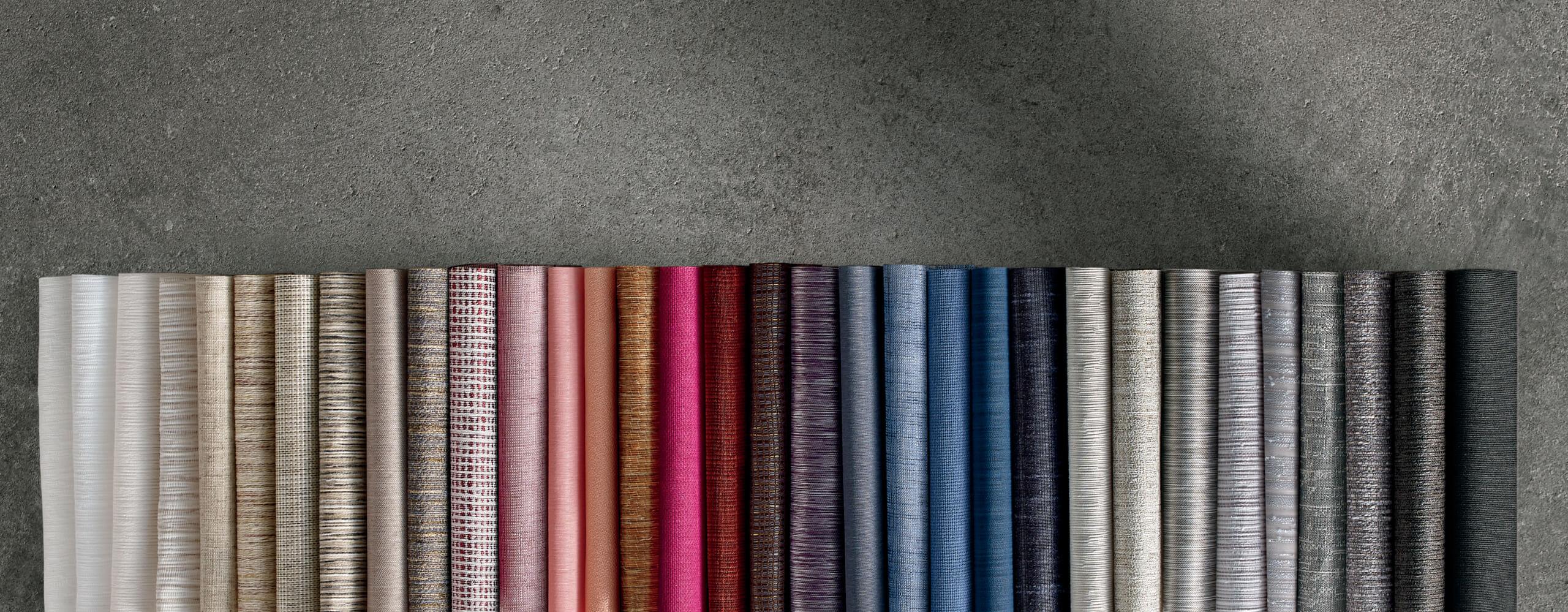 Fabric selections for Hunter Douglas Designer Roller Shades